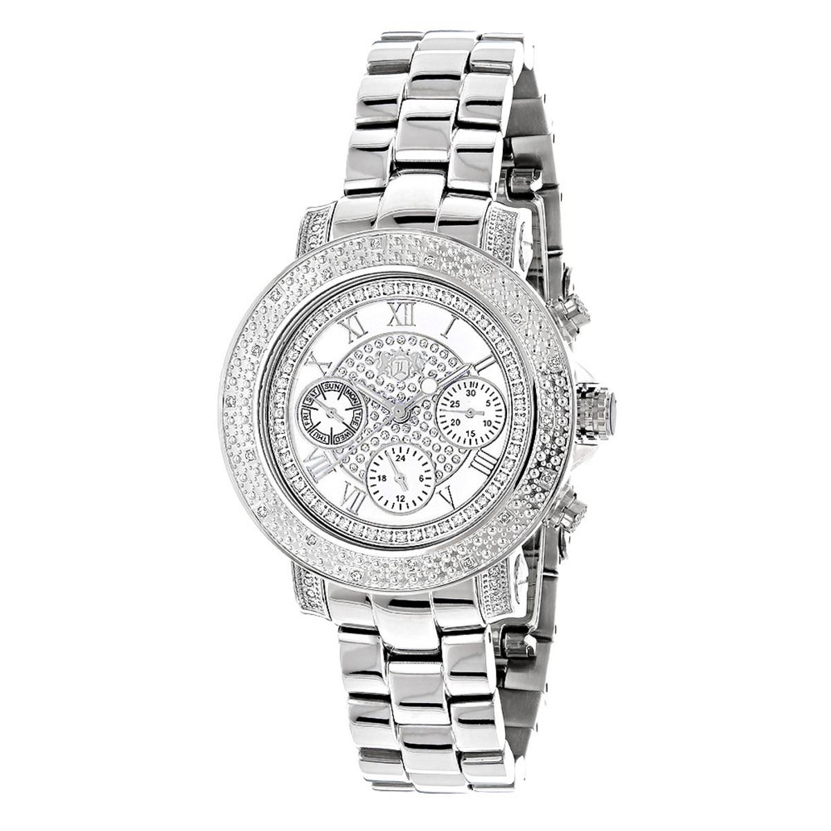 Ladies Diamond Watch 0.30 ct Luxurman White MOP