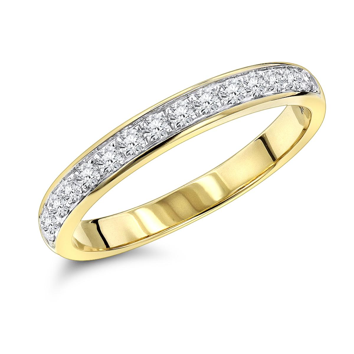 Thin Ladies Diamond Wedding Band 0.3ct 14K Gold