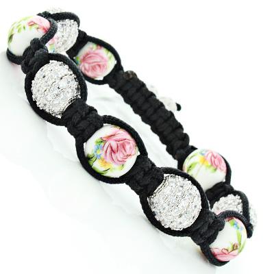 Ladies Disco Ball Jewelry: Flower Crystal Disco Ball Bracelet