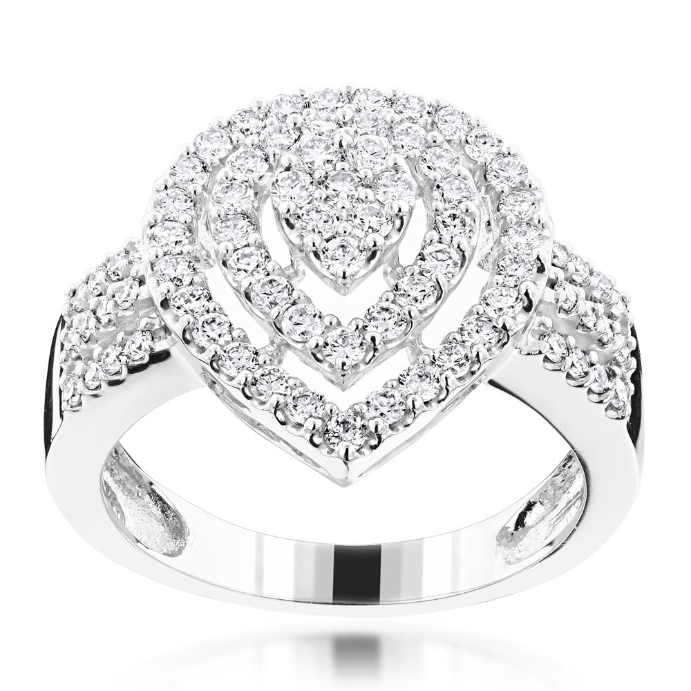 Ladies Fashion Diamond Ring 1.11ct 10K Gold