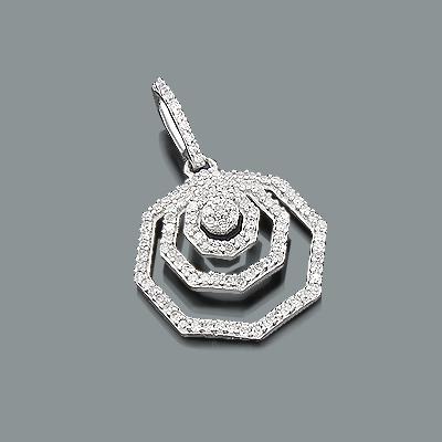 Ladies Gold Diamond Pendant 0.32ct 14K
