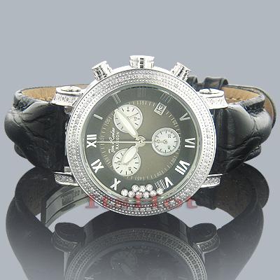 Ladies JoJo Floating Diamond Watch .75ct Rainbow Black
