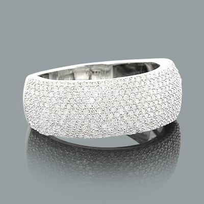 Ladies Pave Diamond Ring 1.05ct 14K Gold