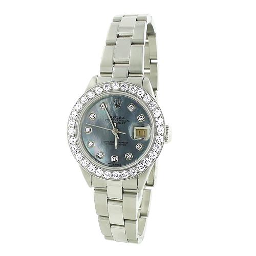 Ladies Rolex Datejust Custom Diamond Watch 2.70ct
