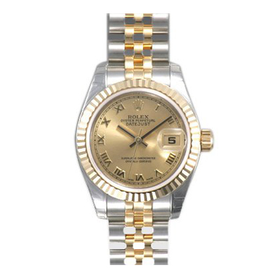 Ladies ROLEX Oyster Watch Perpetual Datejust Champagne