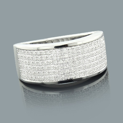 Ladies Sterling Silver Diamond Wedding Ring 0.31ct