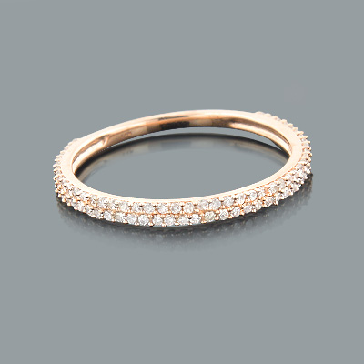 Ladies Thin Diamond Ring 0.35ct 14K Gold Stackable