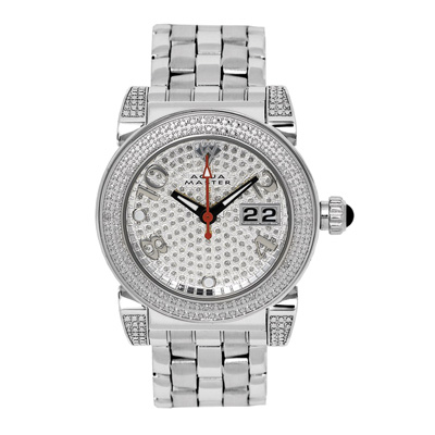 Ladies Watches Diamond Aqua Master Watch Round White