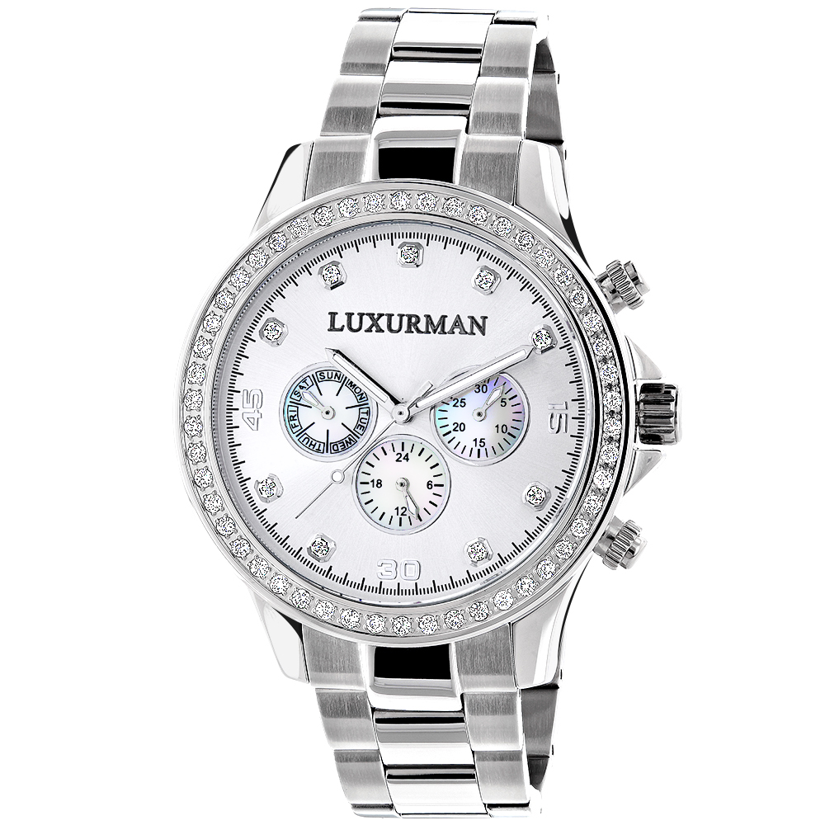 Limited Edition Mens Diamond Watch 2ct Luxurman
