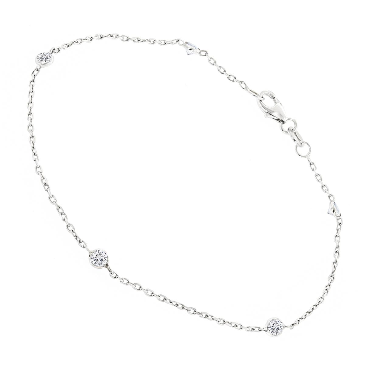 Luxurman 14K Gold Diamond By The Yard Bracelet for Women 1/2 Carat 7in