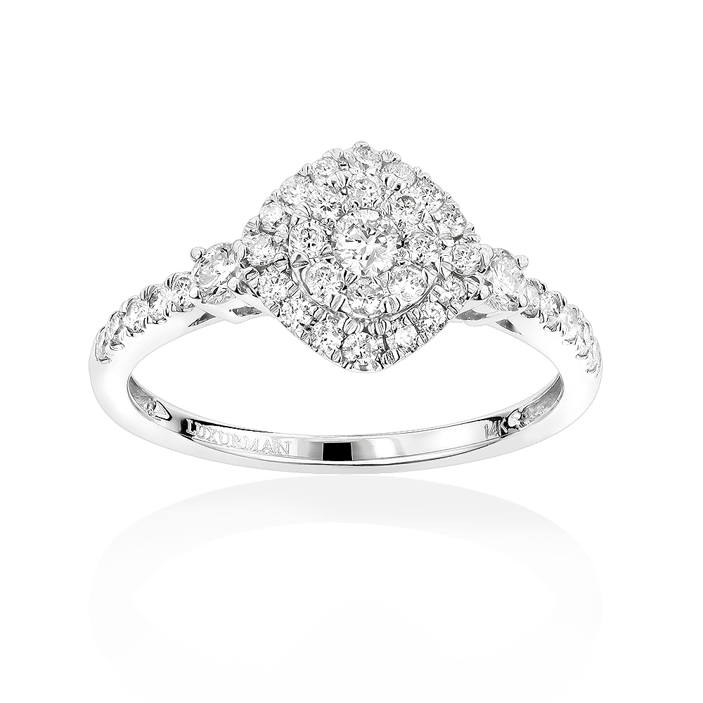 Luxurman Affordable Diamond Cluster Rings: Ladies Engagement Ring ...