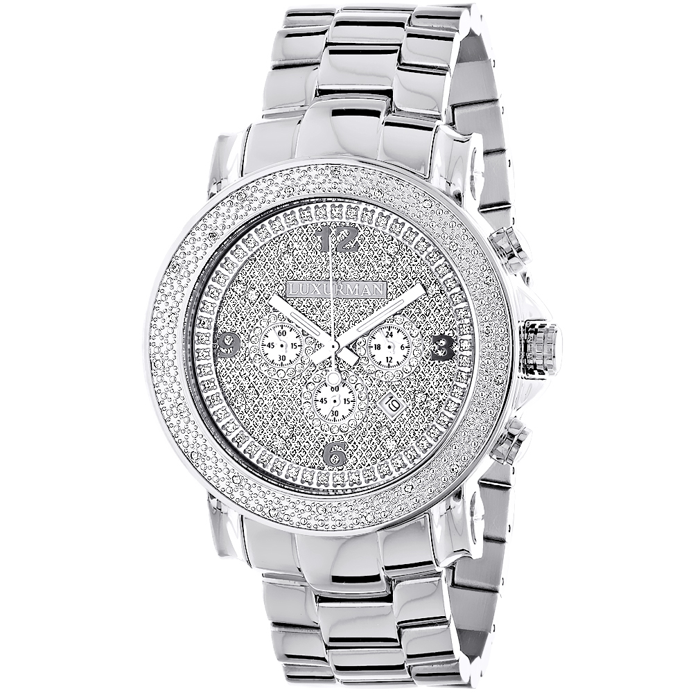 Oversized Mens Diamond Watch 0.25ct Luxurman Escalade