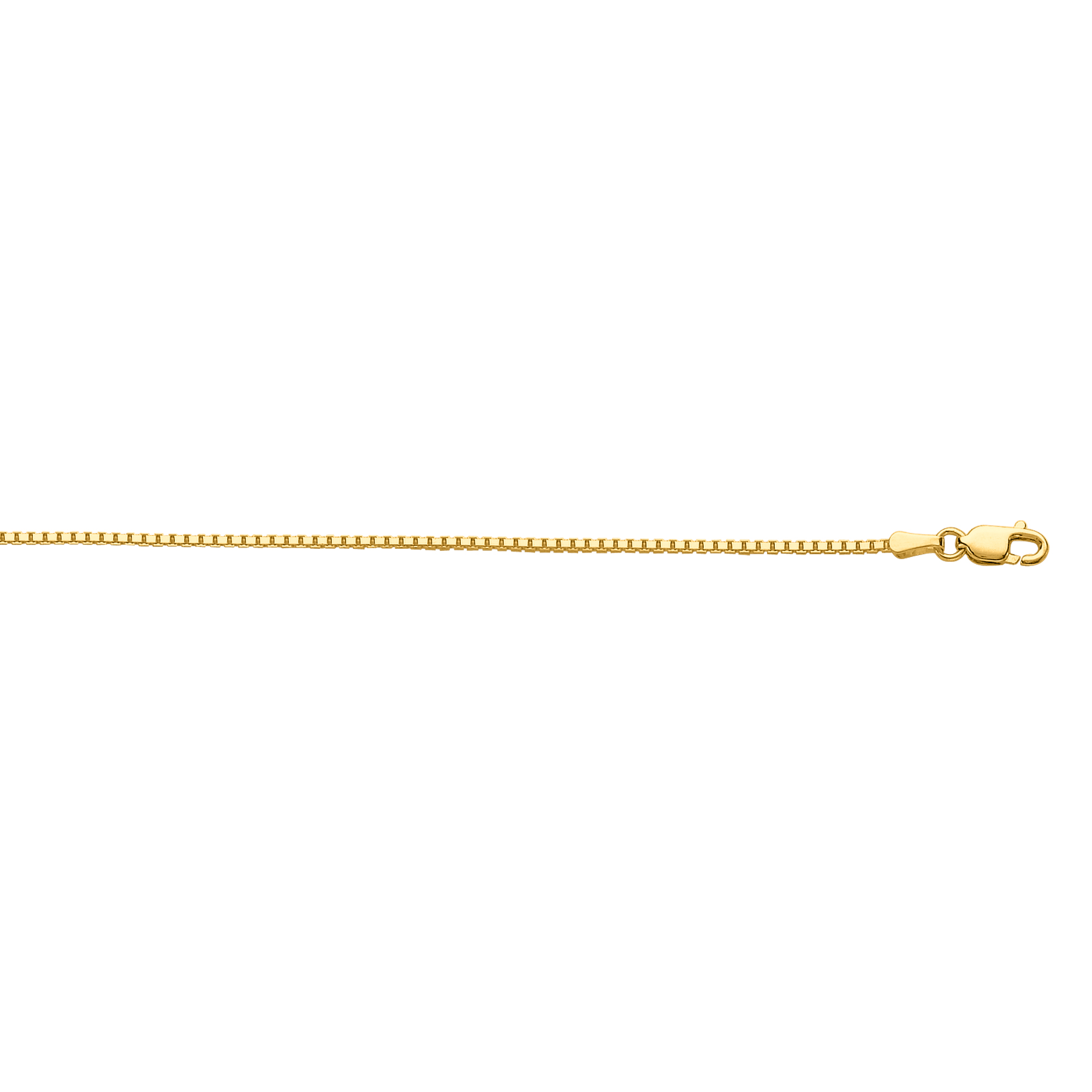 LUXURMAN Solid 10k Gold Box Chain For Men & Women Octagonal 1.2mm Wide