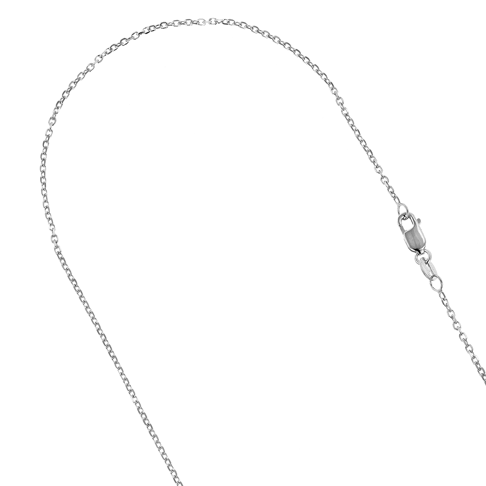 LUXURMAN Solid 10k Gold Cable Chain For Men & Women 1.1mm Wide