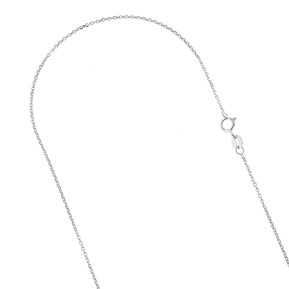 LUXURMAN Solid 10k Gold Cable Chain For Women 0.5mm Wide