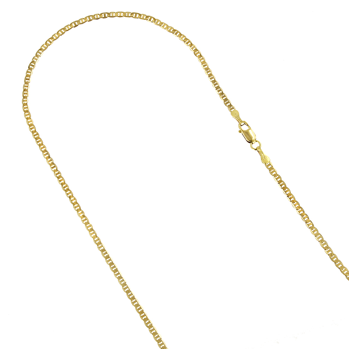 LUXURMAN Solid 10k Gold Mariner Chain For Men & Women 1.7mm Wide