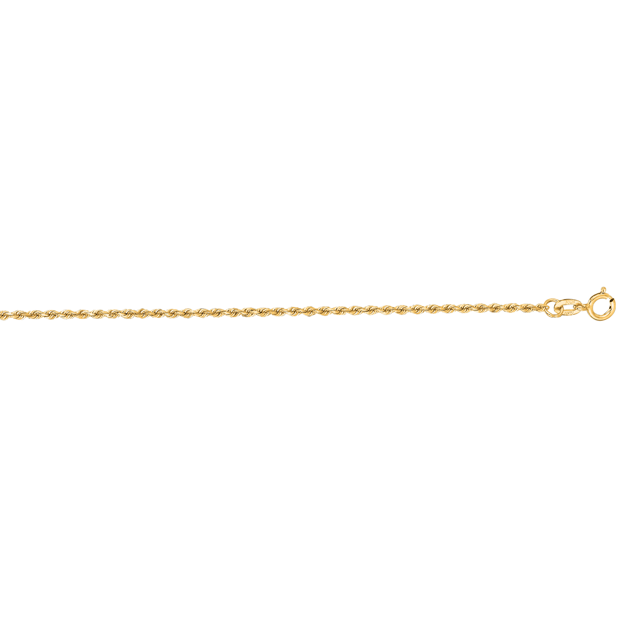 LUXURMAN Solid 10k Gold Rope Chain For Men & Women Diamond Cut 1.3mm