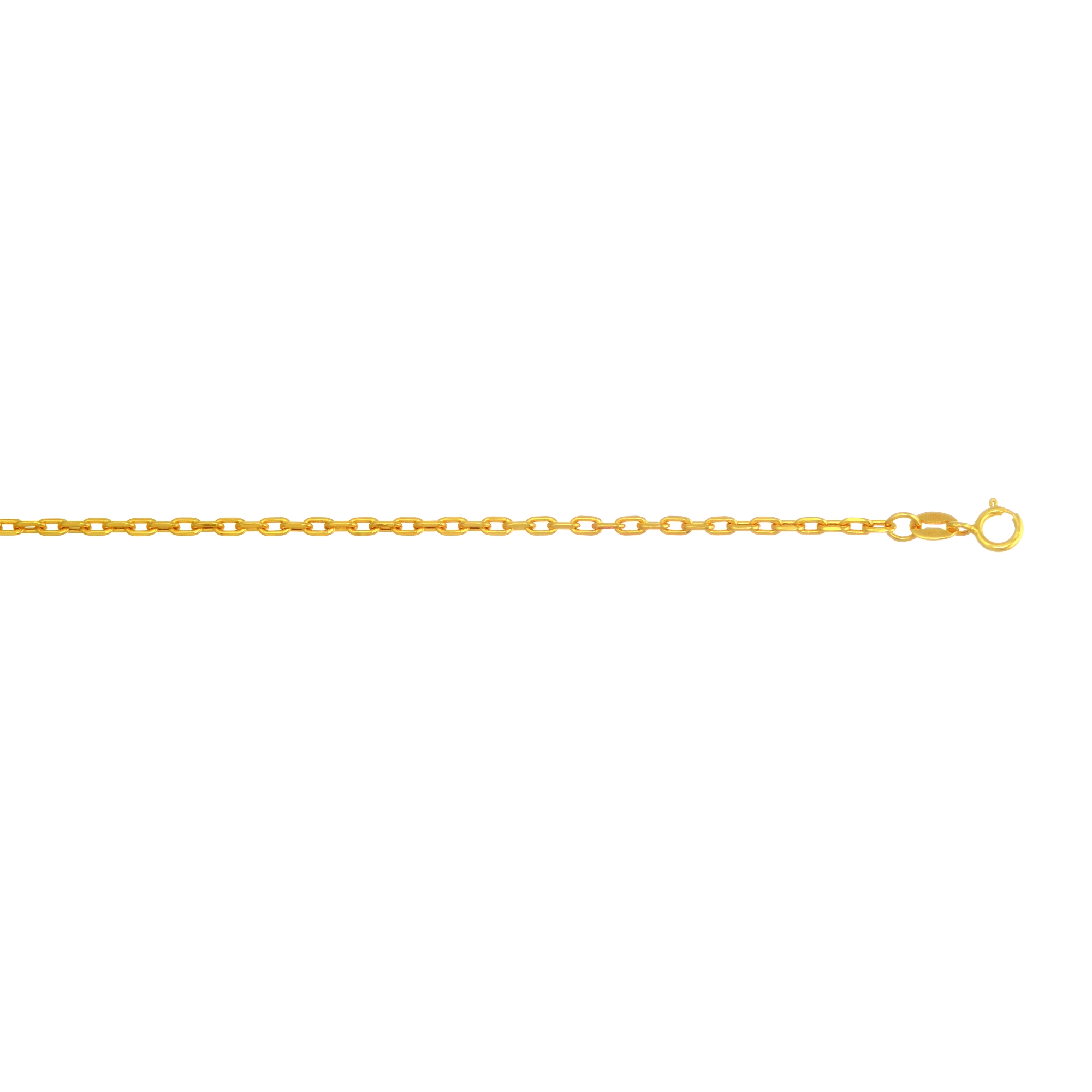 LUXURMAN Solid 14k Gold Cable Chain For Men & Women Oval 2mm Wide