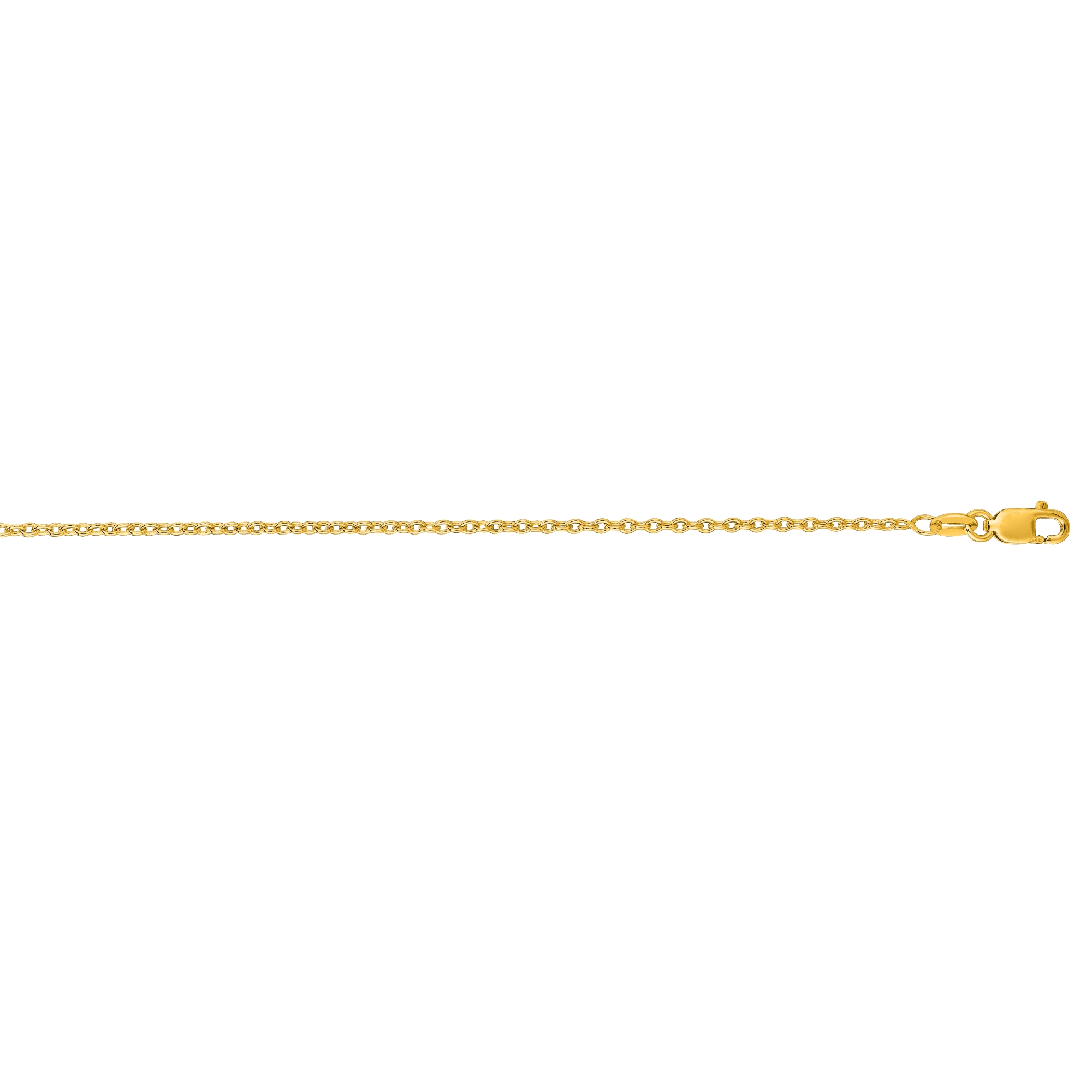 LUXURMAN Solid 14k Gold Cable Chain For Men & Women Round 1.5mm Wide