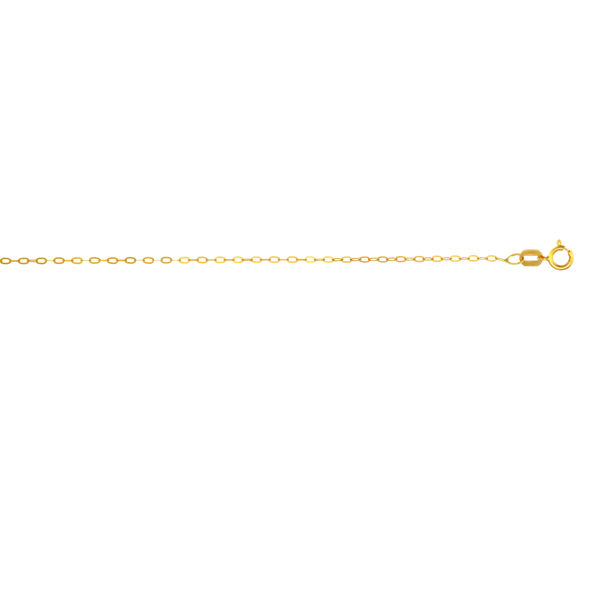 LUXURMAN Solid 14k Gold Cable Chain For Women Oval 1.2mm Wide