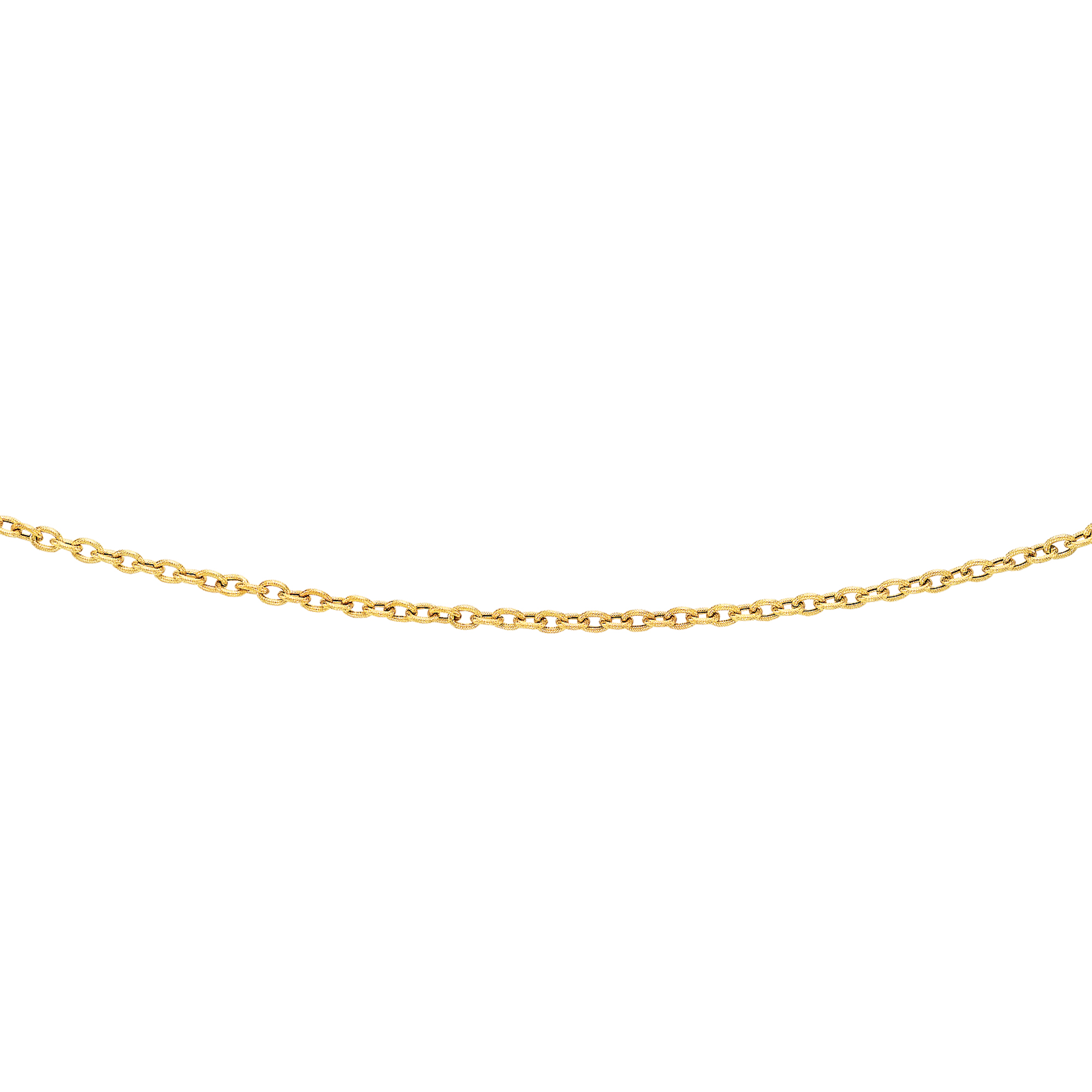 LUXURMAN Solid 14k Gold Cable Chain For Women Textured Link 3.5mm Wide