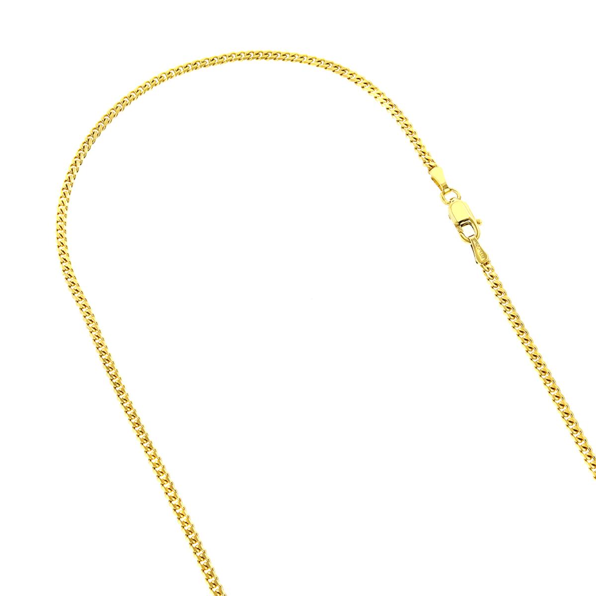 LUXURMAN Solid 14k Gold Curb Chain For Men & Women Gourmette 3mm Wide