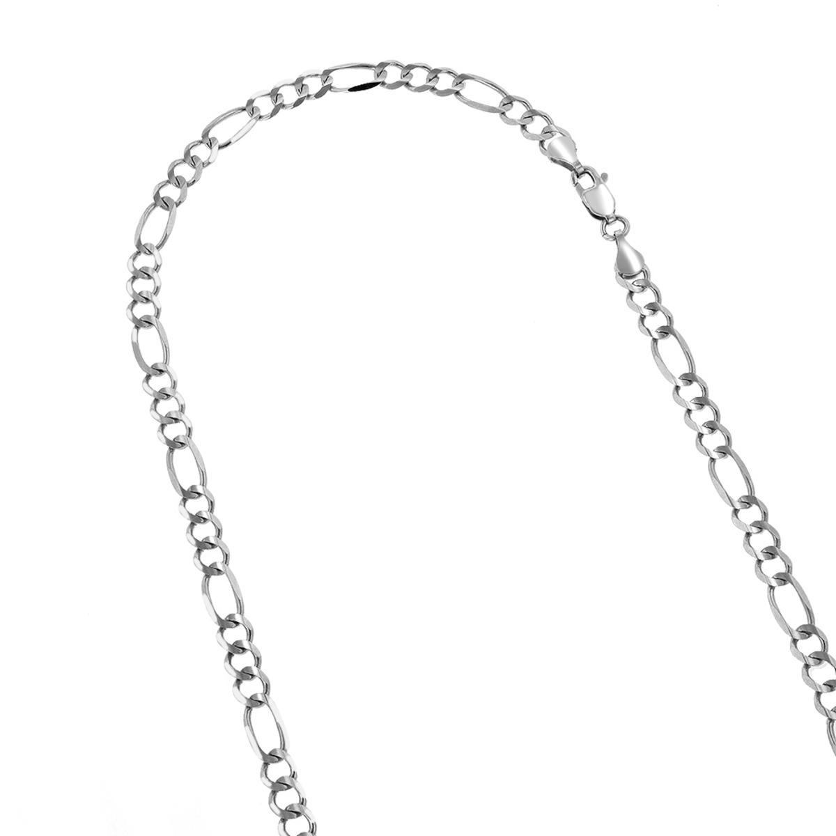LUXURMAN Solid 14k Gold Figaro Chain For Men & Women 4.5mm Wide