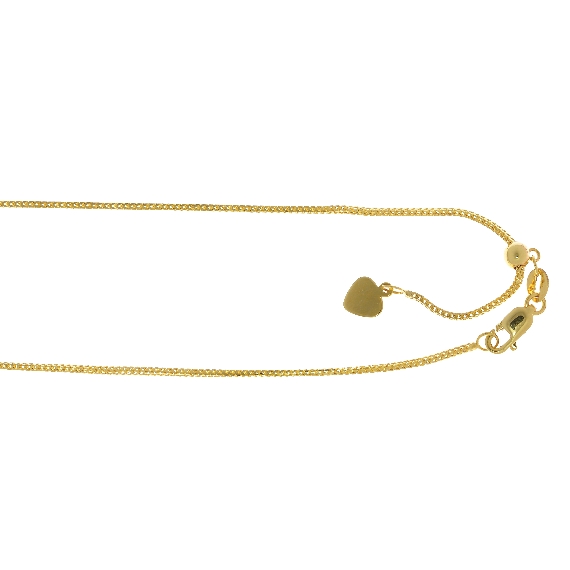 LUXURMAN Solid 14k Gold Franco Chain For Women Adjustable 0.9mm
