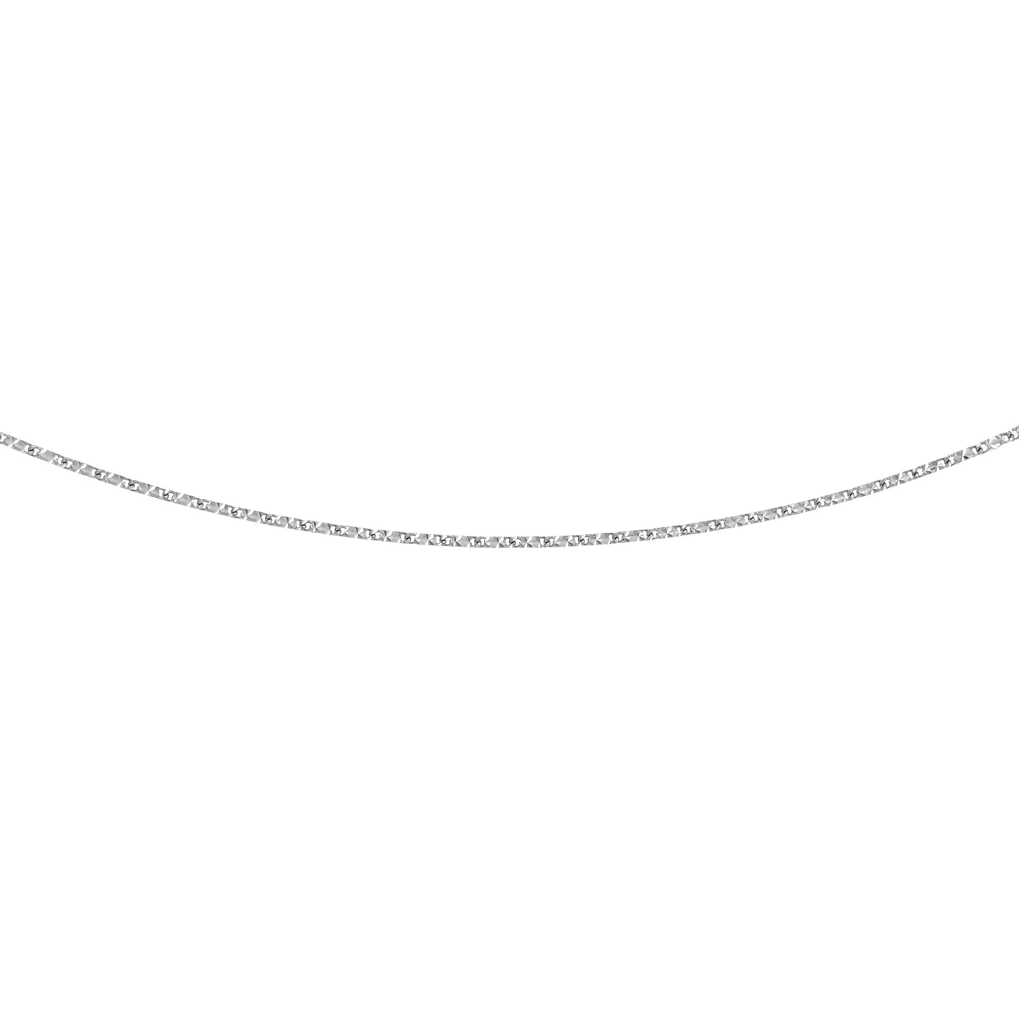 LUXURMAN Solid 14k Gold Raindrop Chain For Women 0.8mm Wide