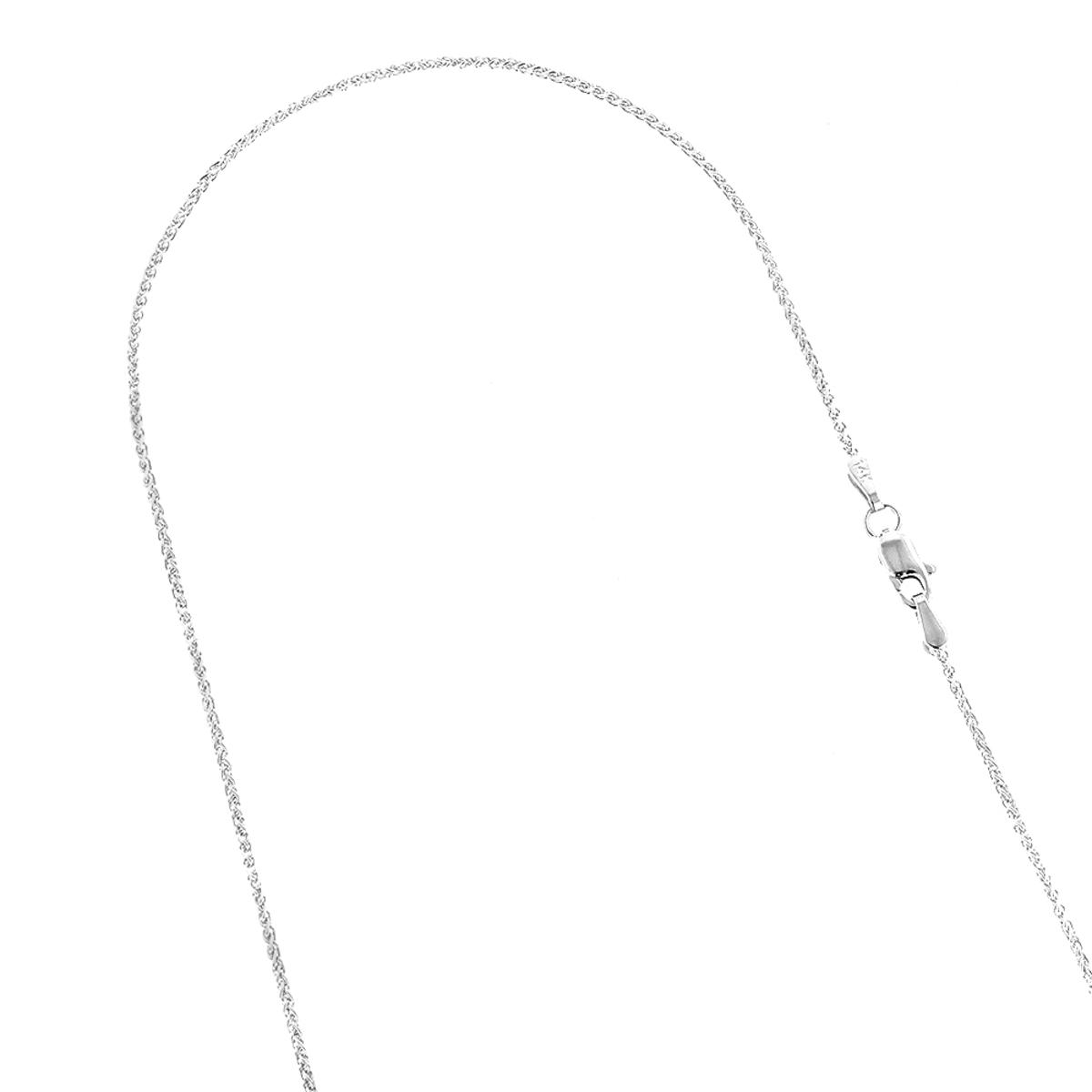 LUXURMAN Solid 14k Gold Wheat Chain For Men & Women 1.2mm Wide