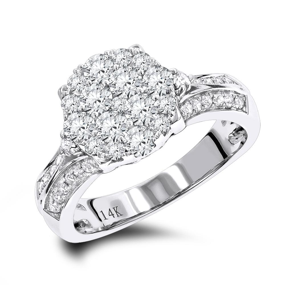 Luxury Diamond Engagement Ring 1.5ct 14K Gold