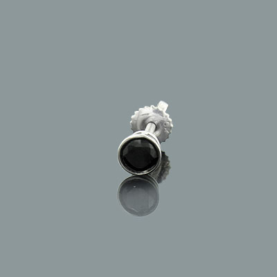 Mens Black Diamond Stud Earring 0.25ct 14K Gold