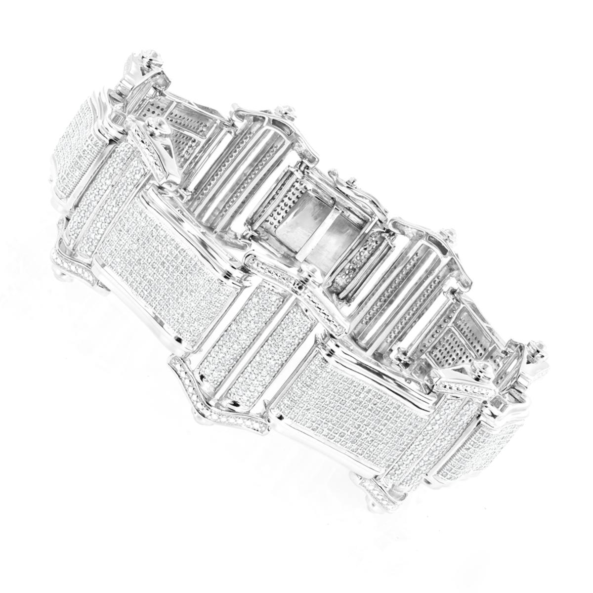 Mens Bracelets 14K Gold Mens Diamond Bracelet 7.98ct