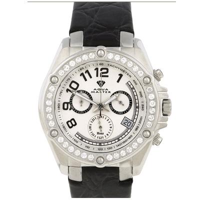 Mens Diamond Aqua Master Watch 1.70ct White