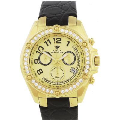 Mens Diamond Aqua Master Watch 1.70ct Yellow
