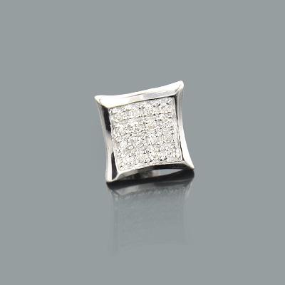 Mens Diamond Earring 0.09ct 10K Gold