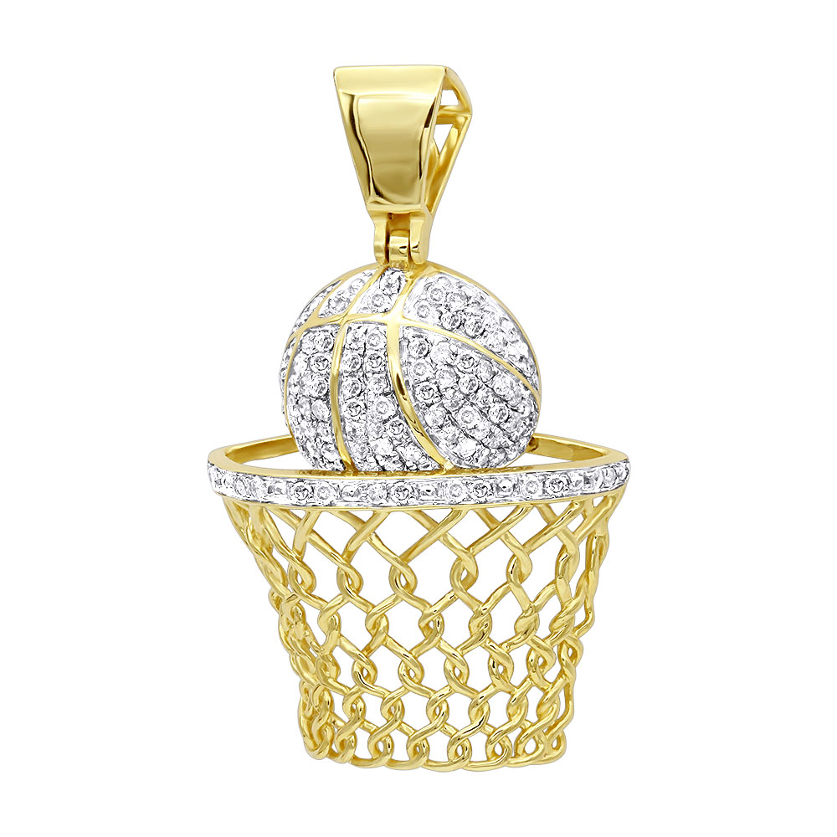 Mens diamond jewelry solid 10k gold real diamond basketball pendant mens diamond jewelry solid 10k gold real diamond basketball pendant 08ct mozeypictures Gallery