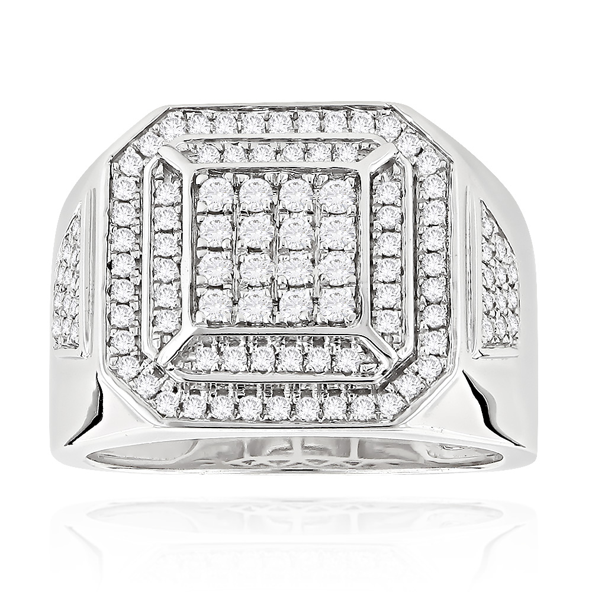 Mens Diamond Pinky Ring by Luxurman 1 Carat 14k Gold