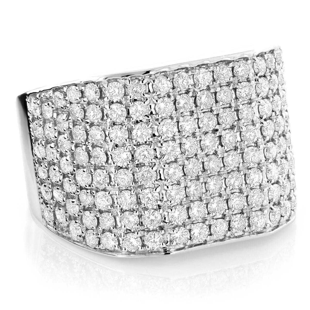 Mens Diamond Rings Collection 4.5ct Luxurman Custom Made Ring 14k Gold