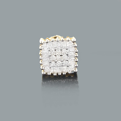 Mens Diamond Stud Earring 0.35ct 14K Gold