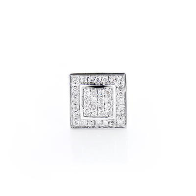 Mens Diamond Stud Earring 0.40ct 14K Gold