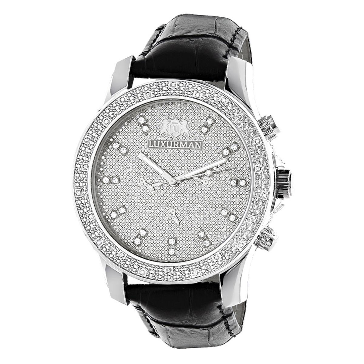 Mens Diamond Watch 0.25ct by Luxurman