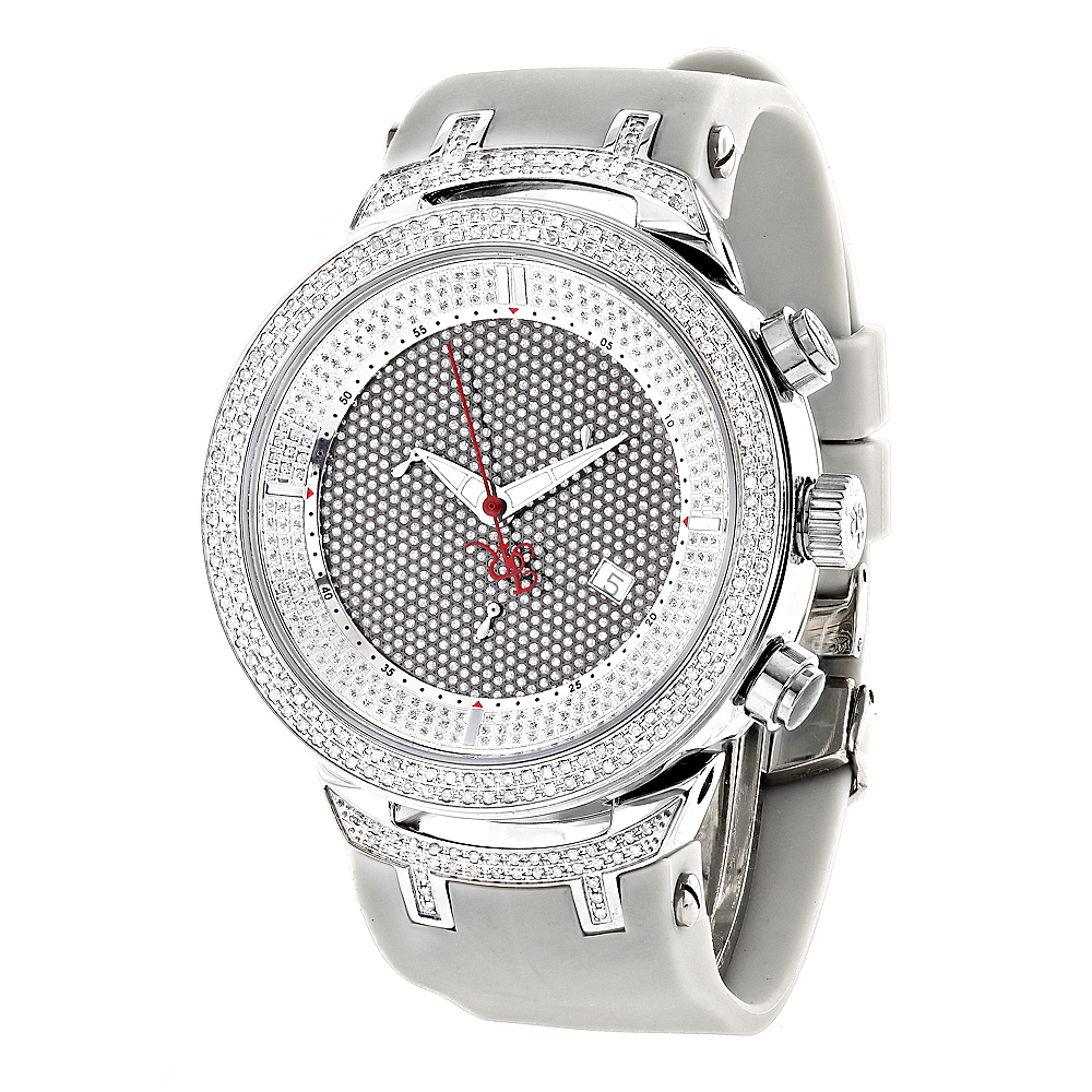 Mens Diamond  Watch 2.2ct Joe Rodeo Master
