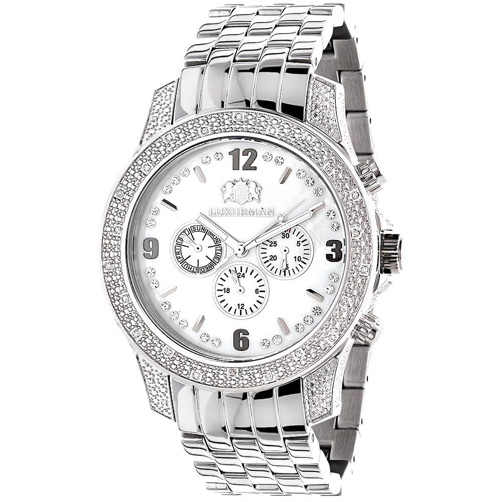 Mens Diamond Watches 0.50ct Luxurman Watch