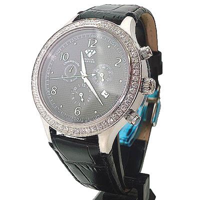 Mens Diamond Watches Aqua Master Watch 2.45ct