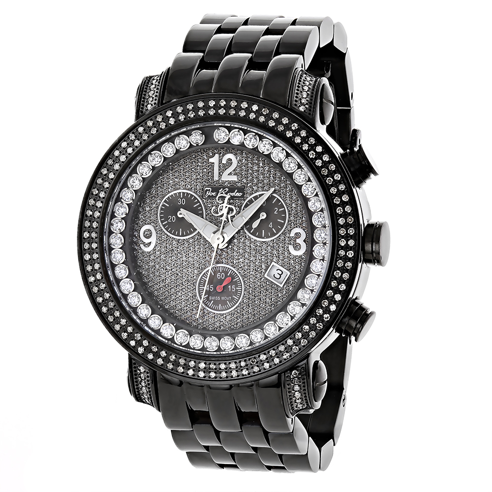 Mens Diamond Watches: Joe Rodeo Tyler Watch 2ct Black