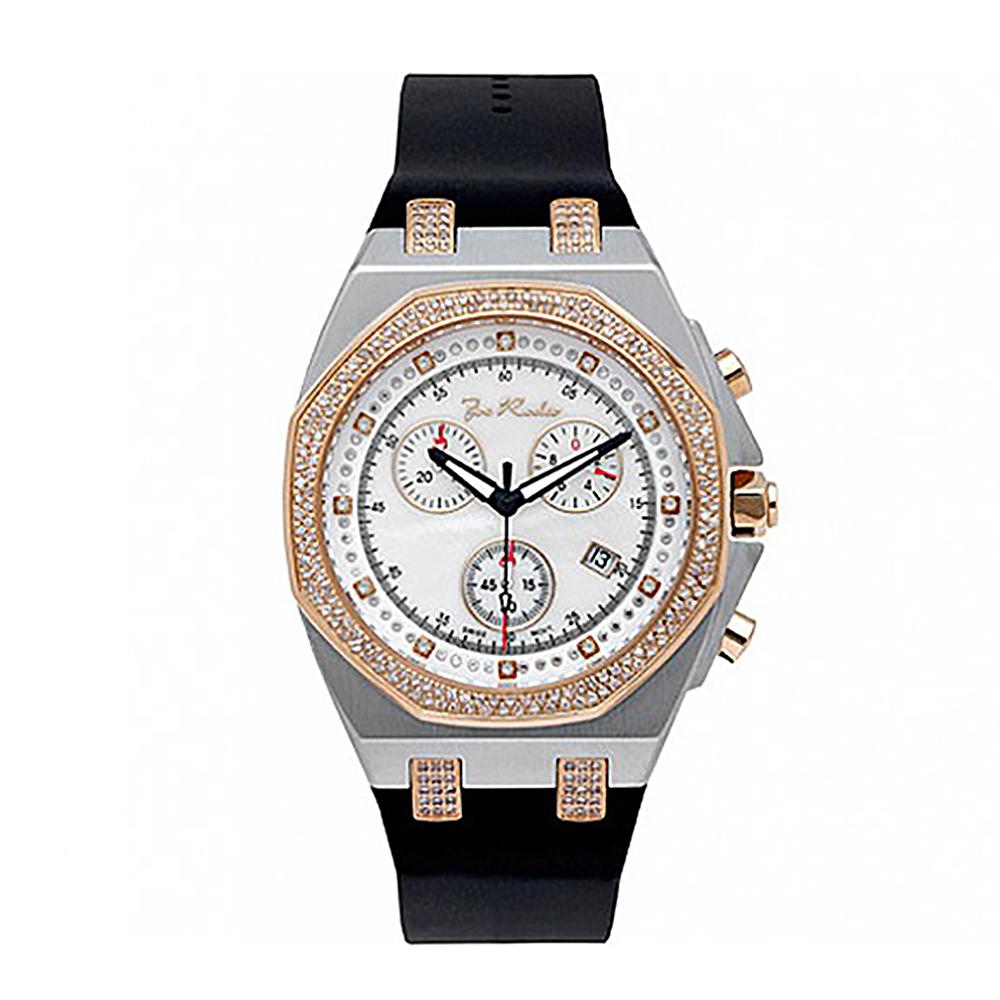 Mens Joe Rodeo Panama Diamond Watch 2.15ct Rose Gold