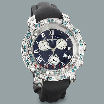 Mens Luxury Watches: Benny and Co Floating Diamond Watch 7.50ct