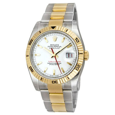 Mens ROLEX Oyster Perpetual Watch Two-Tone Datejust