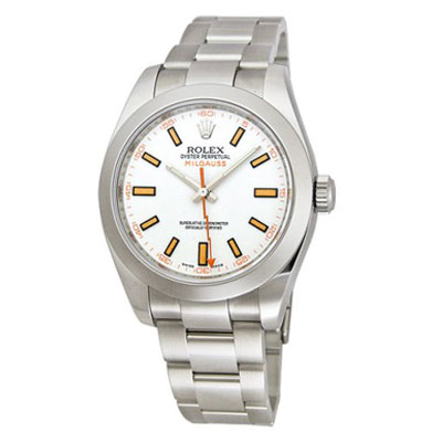 Mens ROLEX Oyster Watch Perpetual Milgauss White